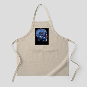 Human head, artwork Apron