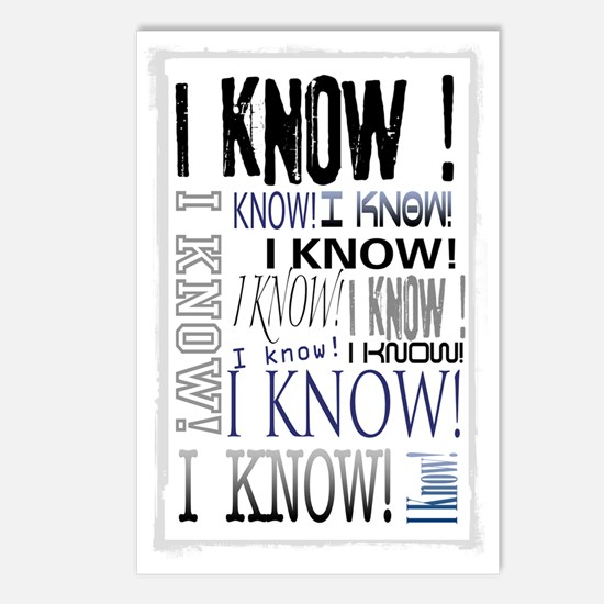 I know! I Know!! Teenager Postcards (Package of 8)