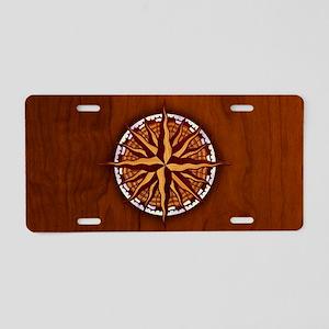 compass-inlay-OV Aluminum License Plate