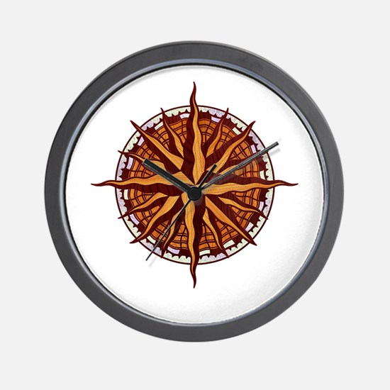 compass-inlay-T Wall Clock