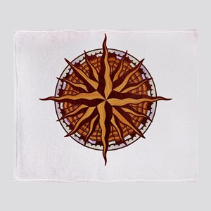 compass-inlay-T Throw Blanket