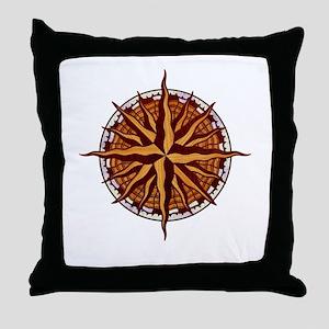 compass-inlay-T Throw Pillow