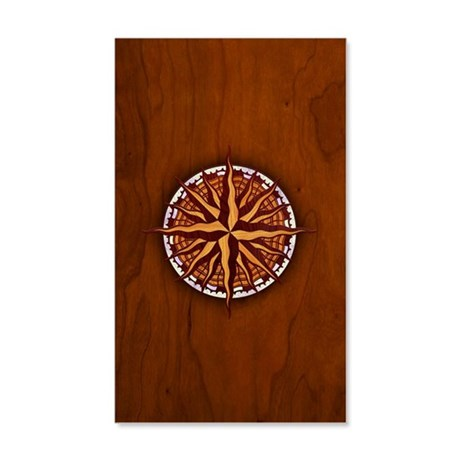 compass-inlay-PHN 35x21 Wall Decal