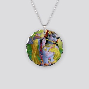 I Love you Krishna. Necklace Circle Charm