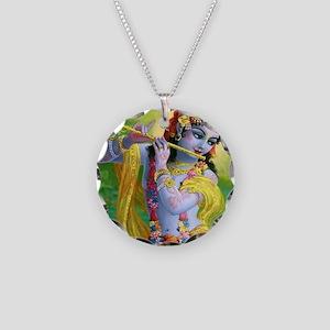I Love you Krishna. Necklace Circle Charm