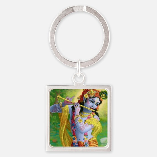 I Love you Krishna. Square Keychain