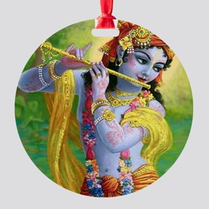 I Love you Krishna. Round Ornament