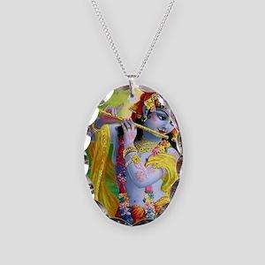 I Love you Krishna. Necklace Oval Charm