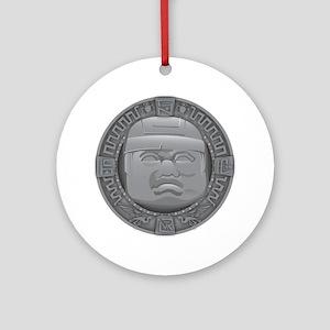 Olmec Grey Round Ornament