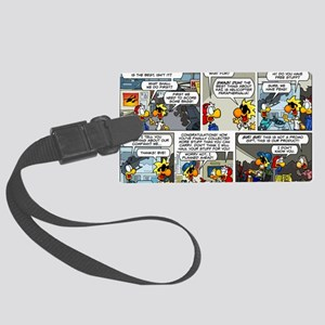 2L0114 - Helicopter swag Large Luggage Tag
