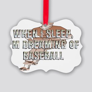 dreamingofbaseball Picture Ornament