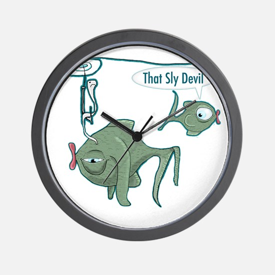 Fishing Funny Wall Clock