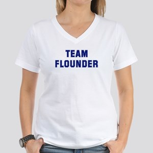 Team FLOUNDER Women's V-Neck T-Shirt