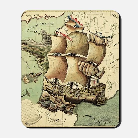 Ancient Map Mousepad