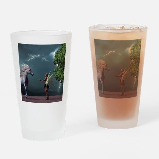 Fairy And Unicorn Drinking Glass