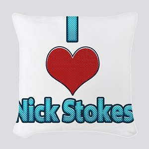 I heart Nick Stokes Woven Throw Pillow