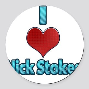 I heart Nick Stokes Round Car Magnet