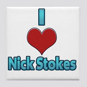 I heart Nick Stokes Tile Coaster