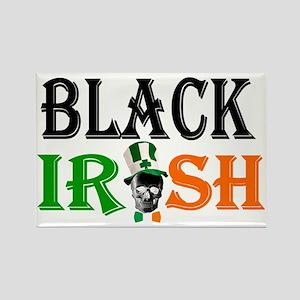 Black Irish St Patricks day Rectangle Magnet