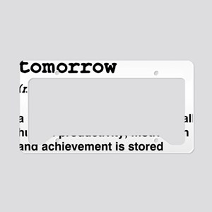 Procrastinate License Plate Holder