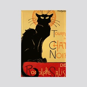 French Black Cat Rectangle Magnet