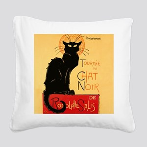 Famous black cat French Square Canvas Pillow