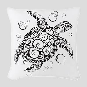 Sea Turtle Woven Throw Pillow