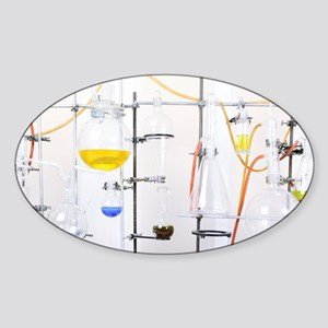 Chemistry apparatus Sticker (Oval)