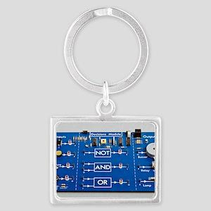 Educational circuit board Landscape Keychain