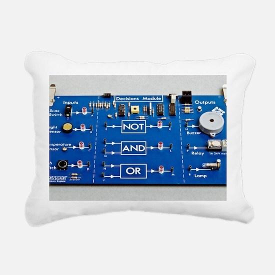 Educational circuit boar Rectangular Canvas Pillow
