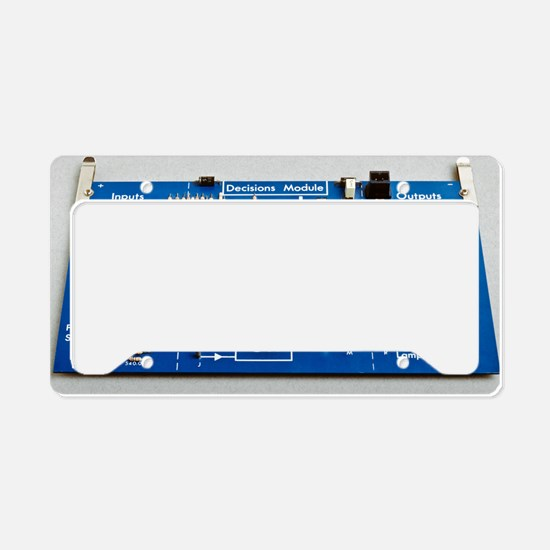 Educational circuit board License Plate Holder
