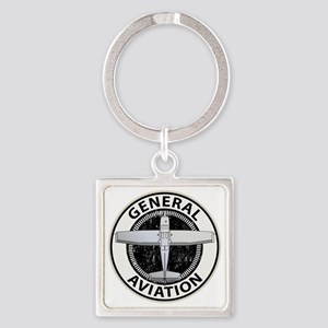 General Aviation Square Keychain