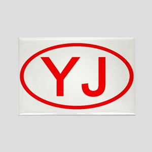 YJ Oval (Red) Rectangle Magnet