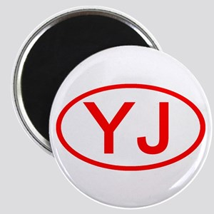 YJ Oval (Red) Magnet