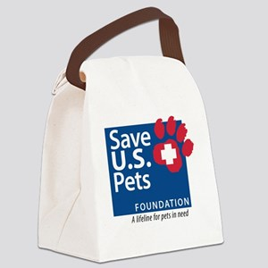 Save U.S. Pets Logo Canvas Lunch Bag