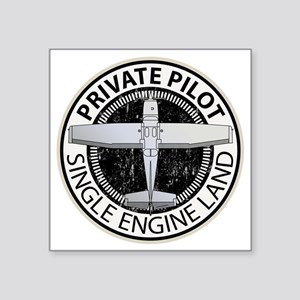 "Aviation Private Pilot Square Sticker 3"" x 3"""