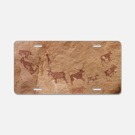 Pictograph of Lion attack,  Aluminum License Plate