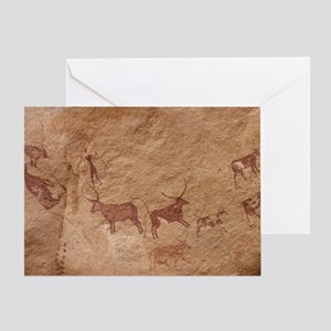 Pictograph of Lion attack, Libya Greeting Card