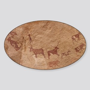 Pictograph of Lion attack, Libya Sticker (Oval)