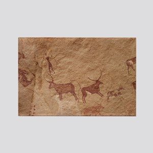 Pictograph of Lion attack, Libya Rectangle Magnet