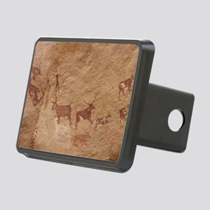 Pictograph of Lion attack, Rectangular Hitch Cover