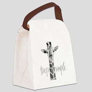 Simple Giraffe Canvas Lunch Bag