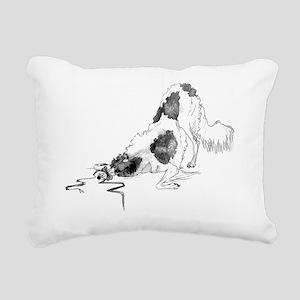Playfull Borzoi Rectangular Canvas Pillow