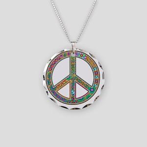 Peace Zen! Necklace Circle Charm