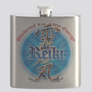 REIKI HEALING HANDS just for today don't wor Flask