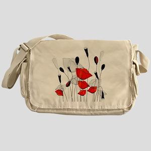 Beautiful Red Poppies Messenger Bag