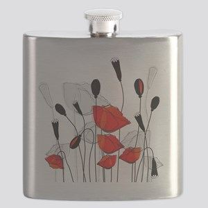 Beautiful Red Poppies Flask