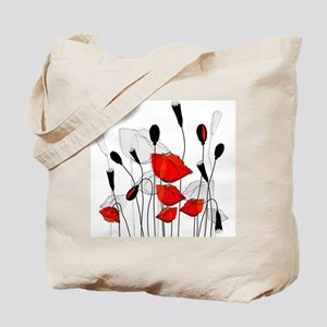 Beautiful Red Poppies Tote Bag