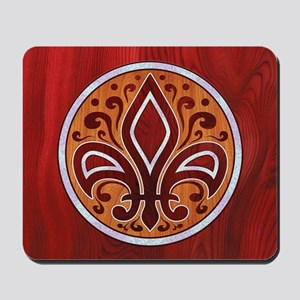 fleur-wood-inlay-BUT Mousepad