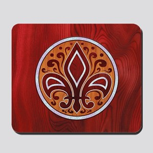 fleur-wood-inlay-CRDh Mousepad